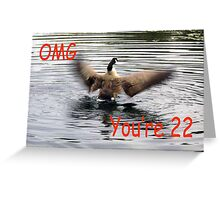 Happy 22nd Birthday Goose flapping Greeting Card