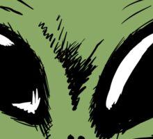 Green Alien Sticker