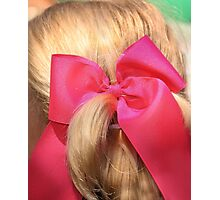 Big Pink Bow!!  Photographic Print