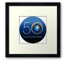 The National Reconnaissance Office (NRO)  50th Anniversary Framed Print