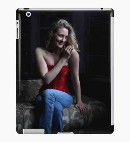 Sexy Blond Sitting iPad Case/Skin
