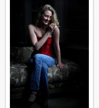 Sexy Blond Sitting Sticker