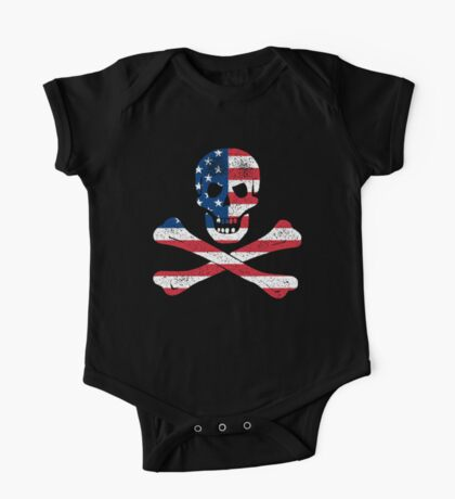 Skull and Crossbones USA Kids Clothes