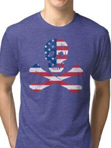 Skull and Crossbones USA Tri-blend T-Shirt