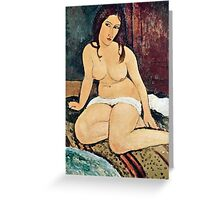 Amedeo Modigliani - Seated Nude  Greeting Card