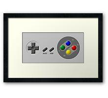 SNES Controller Framed Print