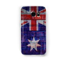 Australia flag on vintage brick wall Samsung Galaxy Case/Skin