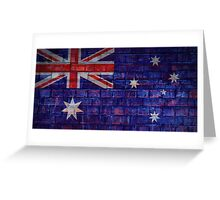 Australia flag on vintage brick wall Greeting Card