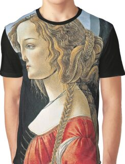 Botticelli -  Portrait Of Simonetta Vespucci  Graphic T-Shirt