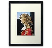 Botticelli -  Portrait Of Simonetta Vespucci  Framed Print
