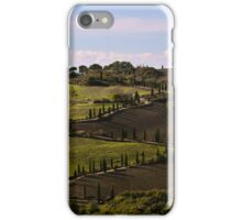 Etruscan Road, La Foce, Val D'Orcia, Tuscany, Italy iPhone Case/Skin