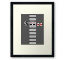 NES Controller Stripe Framed Print