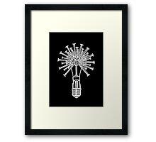 Screw Bulb Framed Print
