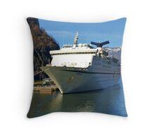 Magellan Cruise Ship Norway. Throw Pillow