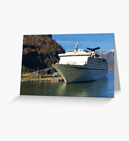 Magellan Cruise Ship Norway. Greeting Card