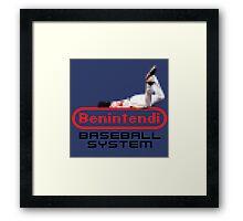 Benintendi Entertainment System (alternate) - Red Sox Framed Print
