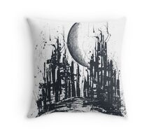 Dystopia city Throw Pillow