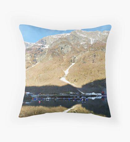 Norwegian Fijord Landscape Throw Pillow