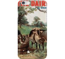 Performing Arts Posters Jas H Wallick presents The dairy farm a romance of Sleepy Hollow by Eleanor Merron 1061 iPhone Case/Skin