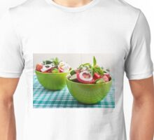 Two portions of useful vegetarian meal Unisex T-Shirt