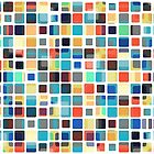 Colorful Tile Pattern by perkinsdesigns
