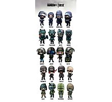 Full Chibi Operator poster for Rainbow 6 Siege Photographic Print