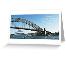 Fathers Day Message on Australian Custom Prints Cards T-Shirts Greeting Card