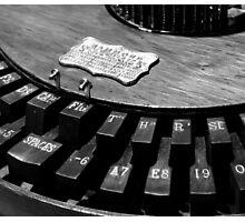 Writing Machine #2 B/W Photographic Print