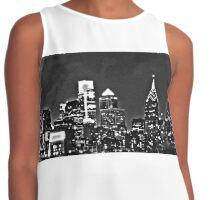 Philadelphia Skyline Panorama - Monochrome Contrast Tank