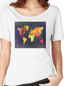 World map  Women's Relaxed Fit T-Shirt