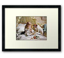 Charles Burton Barber - Suspense  Framed Print