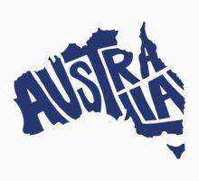 Australia Typography One Piece - Short Sleeve