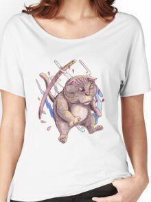 GREY NINJA CAT Women's Relaxed Fit T-Shirt