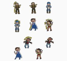1 Inch Tall Game Grumps Sticker Pack by La-Capitale-R