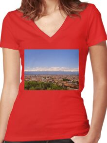 Turin View Women's Fitted V-Neck T-Shirt