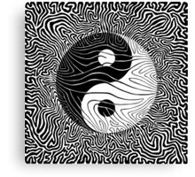 Black Line No.1  Canvas Print