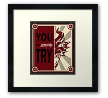 Time to Kill the Dragons Framed Print