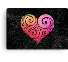 Swirly Heart Canvas Print