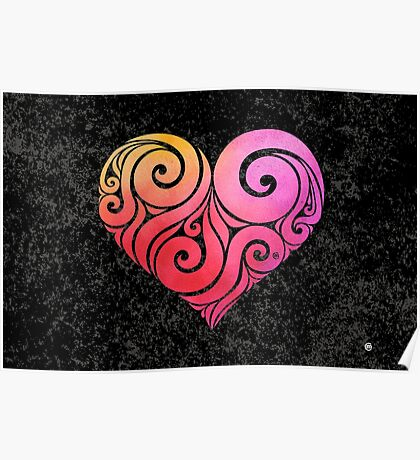 Swirly Heart Poster
