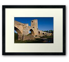 Roman bridge Framed Print