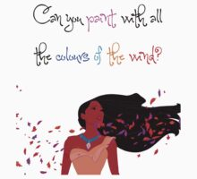 Disney's Pocahontas - Can You Paint with all the Colours of the Wind? Kids Clothes