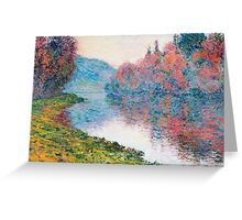 Claude Monet - Banks Of The Seine At Jenfosse Clear Weather Greeting Card