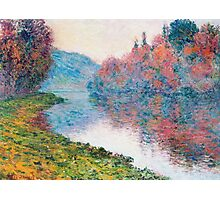 Claude Monet - Banks Of The Seine At Jenfosse Clear Weather Photographic Print