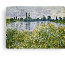 Claude Monet - Banks Of The Seine, Vetheuil 1880  Canvas Print