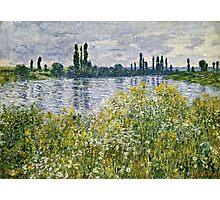Claude Monet - Banks Of The Seine, Vetheuil 1880  Photographic Print