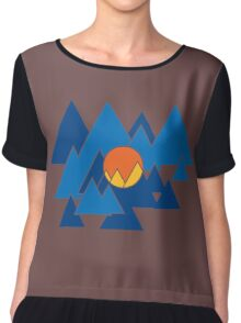 Mountain Geo Chiffon Top