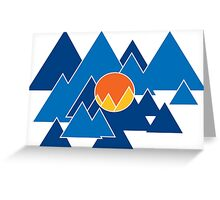 Mountain Geo Greeting Card