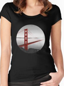 Golden Gate Bridge (Vectorillustration) Women's Fitted Scoop T-Shirt