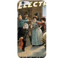 Performing Arts Posters The electrician an American comedy drama Chas E Blaneys greatest success 0885 iPhone Case/Skin