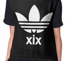 XIX Trefoil Print (Black) Chiffon Top